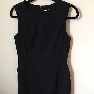 Navy Calvin Klein peplum sheath, size 8